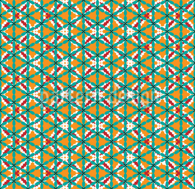 Chunri Decor Seamless Vector Pattern Design