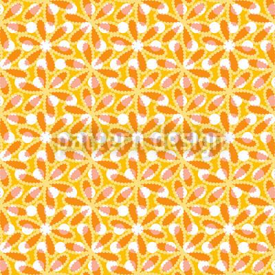 Desert Flower Seamless Vector Pattern