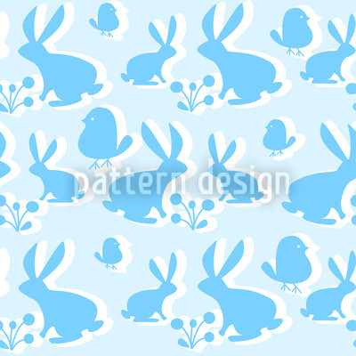 Blue Hoppers Seamless Pattern
