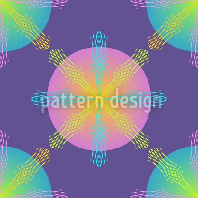 Magie Des Kreises Nahtloses Muster