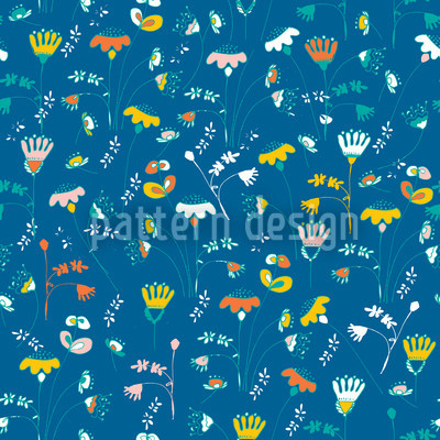Fantasy In Blue Vector Pattern