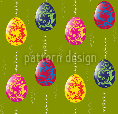Embellished Easter Eggs Repeat Pattern