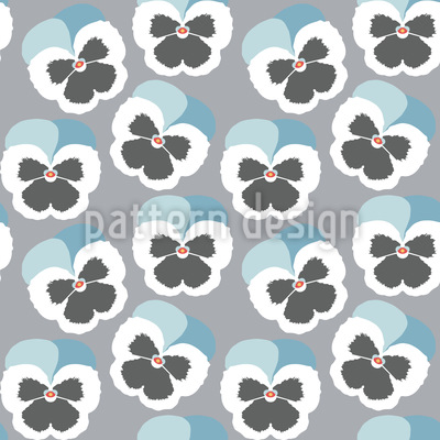 Violetta Blue Seamless Vector Pattern