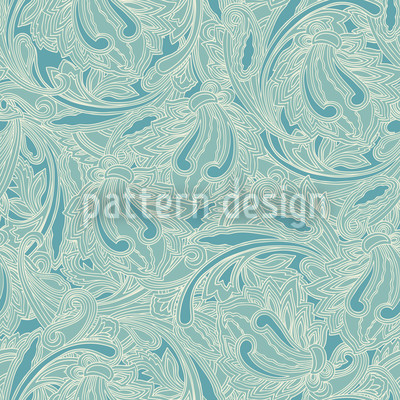 Copper Engraving Seamless Vector Pattern Design