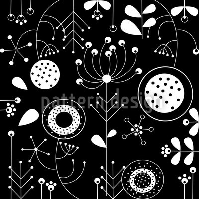 Lilijana Nero Seamless Vector Pattern Design