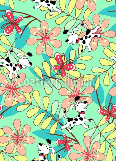 Fang Den Schmetterling Musterdesign