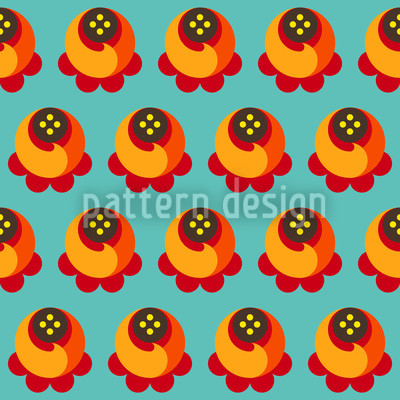 Buddy Orange Seamless Vector Pattern Design