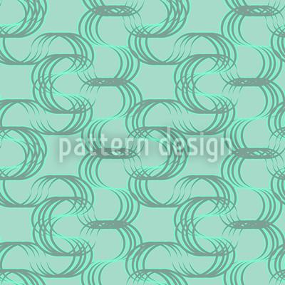 New Wave Grün Nahtloses Muster