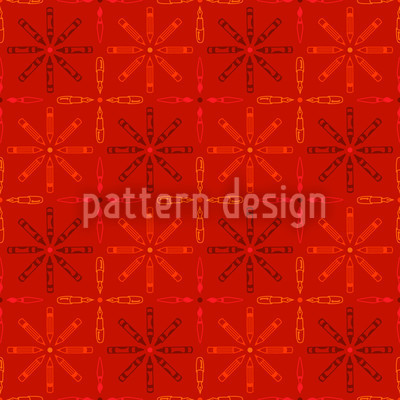 Pen Stars Pattern Design