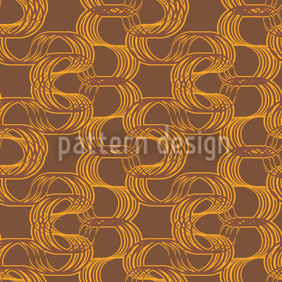 New Wave Brown Seamless Vector Pattern Design