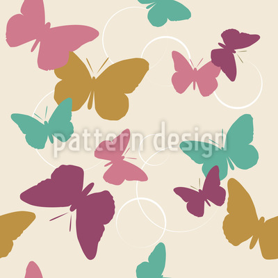 Zeit Der Schmetterlinge Vintage Musterdesign