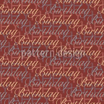 Happy Birthday Braun Vektor Ornament