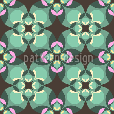 Esmeralda Green Seamless Vector Pattern Design
