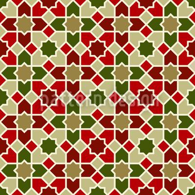 Marokko Weihnacht Nahtloses Muster