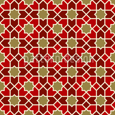 Marocco Gold Seamless Vector Pattern