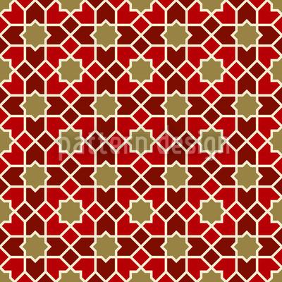 Marokko Gold Nahtloses Vektor Muster
