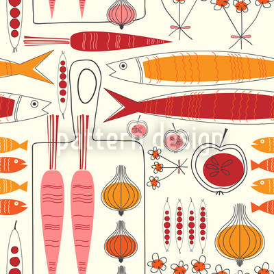 Fisherman Friends Red Seamless Vector Pattern