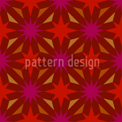 Etoiles De Gaudy Repeat Pattern