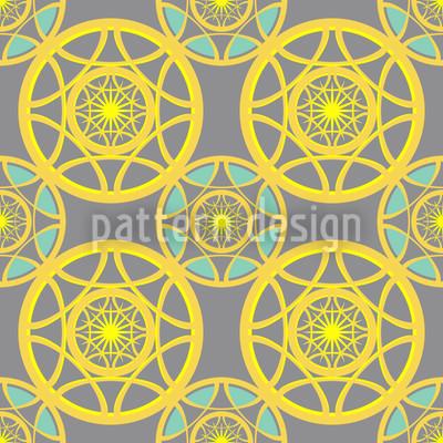 Sonnenräder Nahtloses Muster