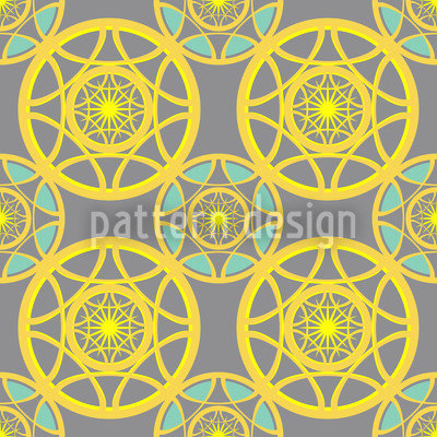 Sun Wheels Seamless Pattern