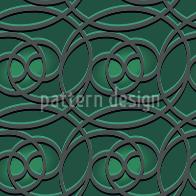 Celtic Emerald Seamless Vector Pattern Design