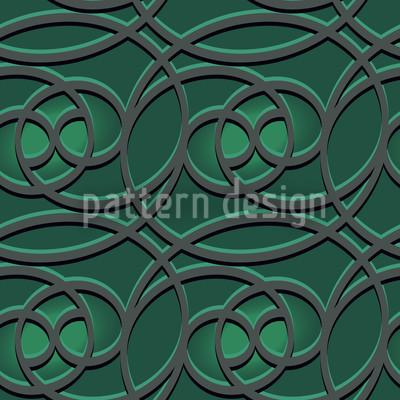 Keltisch Smaragd Nahtloses Vektormuster