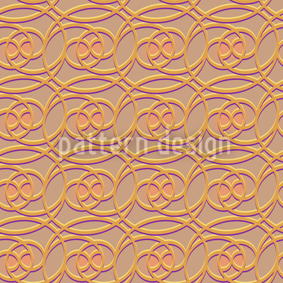 Ouro Celta Design de padrão vetorial sem costura
