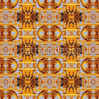 Schatz Der Azteken Nahtloses Vektor Muster