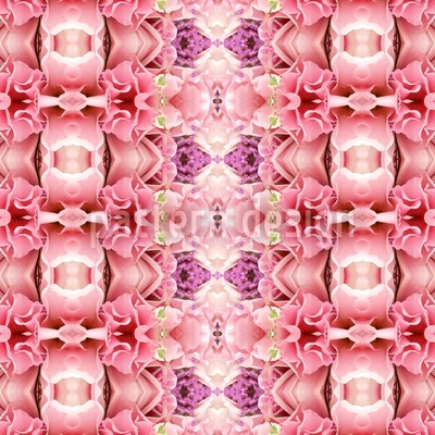 Temple Rose Seamless Vector Pattern Design