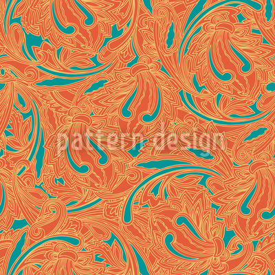 Kupferstich Orange Vektor Muster