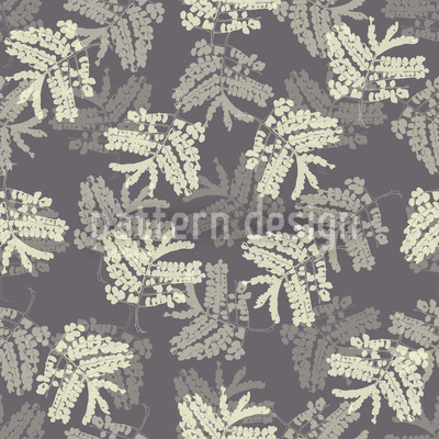 Acacia Leaves Seamless Vector Pattern Design