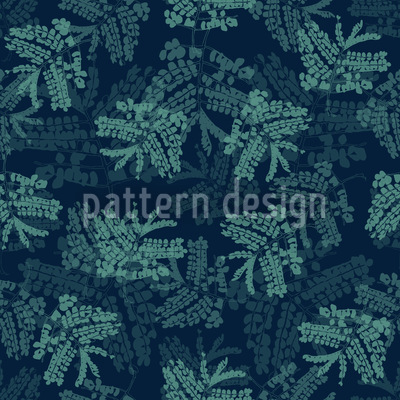 Acacia Leaves Blue Vector Design