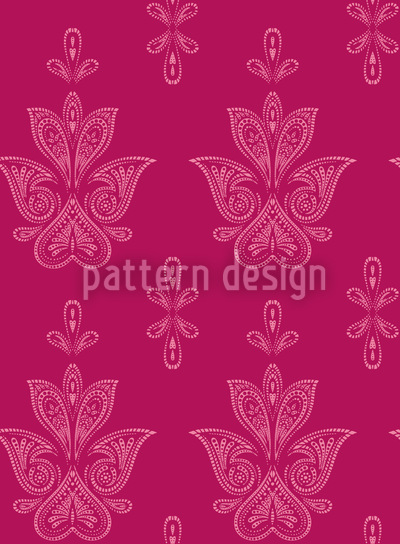 Jaipur Pink Nahtloses Vektor Muster