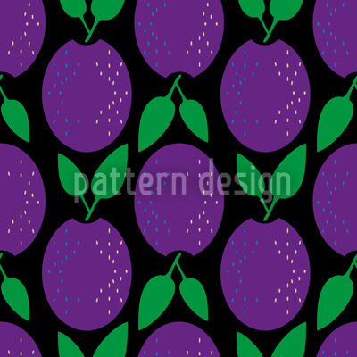 Plums Up Vector Pattern