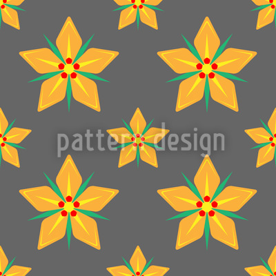 Starflowers Repeat Pattern