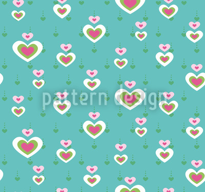 Heart Affair Seamless Vector Pattern Design