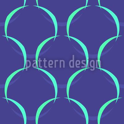 Blaue Maschen Muster Design