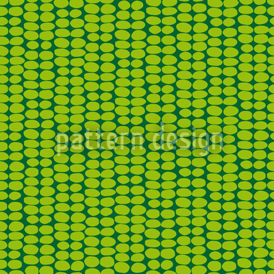 Leaf Green Retro Seamless Vector Pattern Design