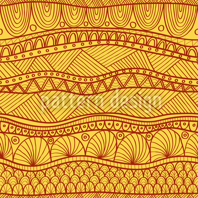 Sunny Ethno Stripes Repeat Pattern