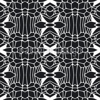 Freie Formen Schwarz und Weiss Nahtloses Muster