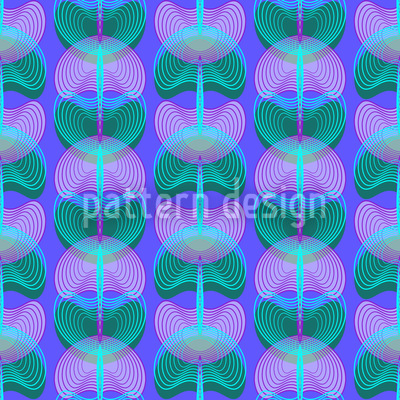 Mollusks Blue Repeating Pattern