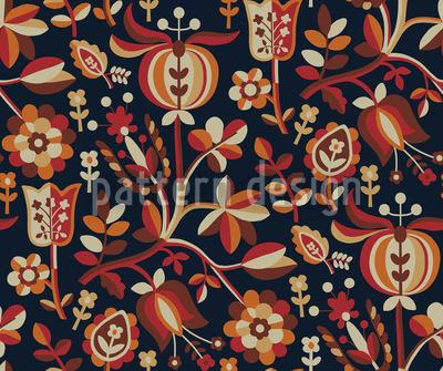 Blumenfantasie Des Ostens Vektor Ornament