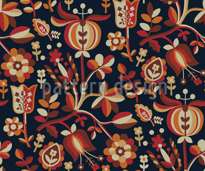 Eastern Flower Fantasy Vector Ornament