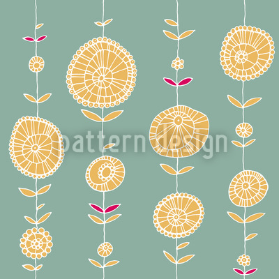 Lei Yellow Seamless Vector Pattern Design