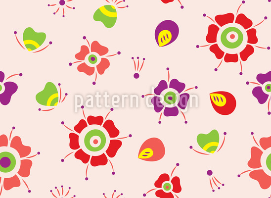 Lady Bug Vector Pattern