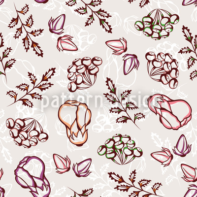 Wild Garden Seamless Vector Pattern Design