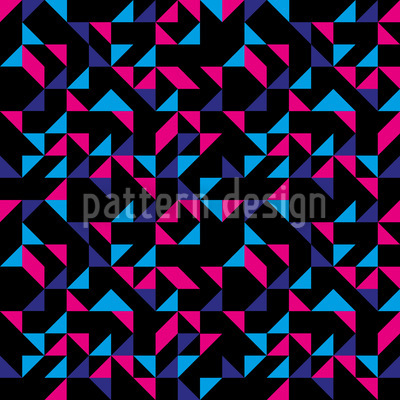 Retro Triangles Pattern Design