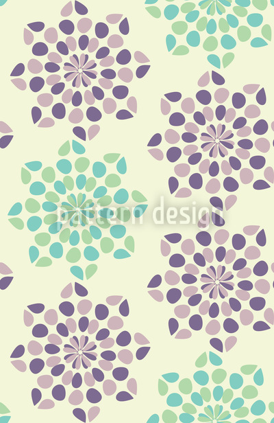 Dotty Flowers Seamless Pattern