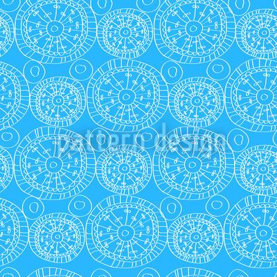 Himmlisches Blau Nahtloses Muster
