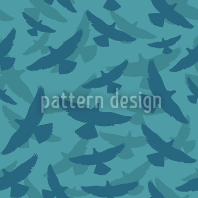 Dove Blue Vector Pattern